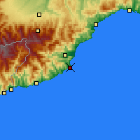 Nearby Forecast Locations - Alassio - Carte