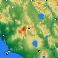 Nearby Forecast Locations - Radicofani - Carte