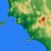 Nearby Forecast Locations - Grosseto - Carte