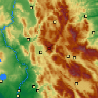 Nearby Forecast Locations - Mont Terminillo - Carte