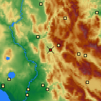 Nearby Forecast Locations - Rieti - Carte