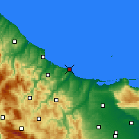 Nearby Forecast Locations - Termoli - Carte