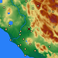 Nearby Forecast Locations - Guidonia Montecelio - Carte