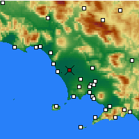 Nearby Forecast Locations - Grazzanise - Carte