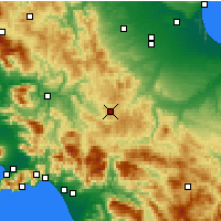Nearby Forecast Locations - Trevico - Carte