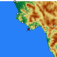 Nearby Forecast Locations - Cape Palinuro - Carte