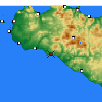 Nearby Forecast Locations - Sciacca - Carte