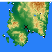 Nearby Forecast Locations - Decimomannu - Carte