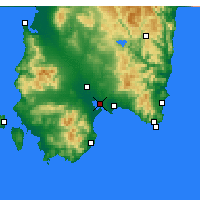 Nearby Forecast Locations - Cagliari - Carte