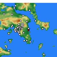Nearby Forecast Locations - Artemi - Carte
