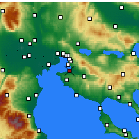 Nearby Forecast Locations - Thessalonique - Carte