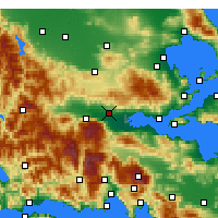 Nearby Forecast Locations - Lamía - Carte