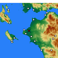 Nearby Forecast Locations - Andravida - Carte