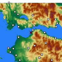 Nearby Forecast Locations - Patras - Carte