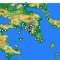 Nearby Forecast Locations - Athènes - Carte