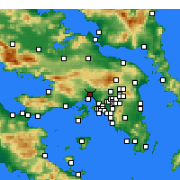 Nearby Forecast Locations - Éleusis - Carte