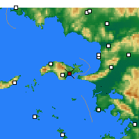 Nearby Forecast Locations - Samos - Carte