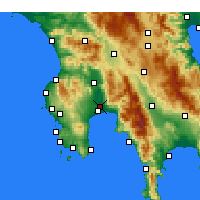 Nearby Forecast Locations - Kalamata - Carte