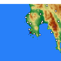 Nearby Forecast Locations - Modon - Carte