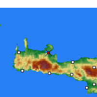 Nearby Forecast Locations - Souda - Carte