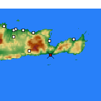 Nearby Forecast Locations - Ierápetra - Carte