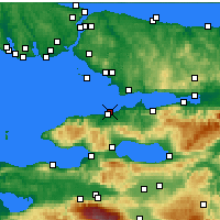 Nearby Forecast Locations - Yalova - Carte
