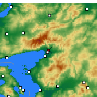 Nearby Forecast Locations - Edremit - Carte
