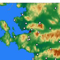 Nearby Forecast Locations - Izmir - Carte