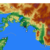 Nearby Forecast Locations - Dalaman - Carte