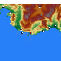 Nearby Forecast Locations - Kaş - Carte