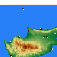 Nearby Forecast Locations - Akdeniz - Carte