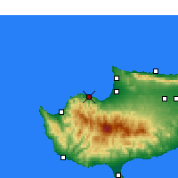 Nearby Forecast Locations - Xerovounos - Carte