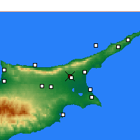 Nearby Forecast Locations - Lefkoniko - Carte
