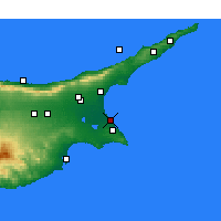 Nearby Forecast Locations - Famagouste - Carte