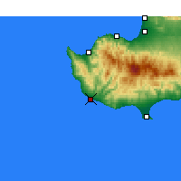 Nearby Forecast Locations - Paphos - Carte