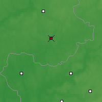 Nearby Forecast Locations - Kastsioukovitchy - Carte