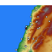 Nearby Forecast Locations - Beyrouth - Carte