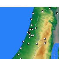 Nearby Forecast Locations - Beit Dagan - Carte