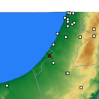 Nearby Forecast Locations - Gaza - Carte