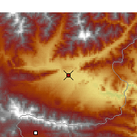 Nearby Forecast Locations - Jalalabad - Carte