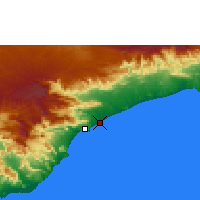 Nearby Forecast Locations - Al Moukalla - Carte
