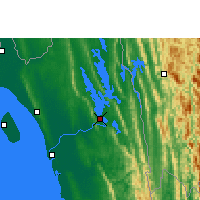 Nearby Forecast Locations - Rangamati - Carte