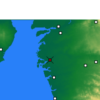 Nearby Forecast Locations - Surate - Carte