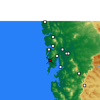 Nearby Forecast Locations - Bombay - Carte