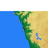 Nearby Forecast Locations - Honnavar - Carte