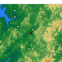Nearby Forecast Locations - Cheongju - Carte