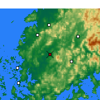 Nearby Forecast Locations - Gwangju - Carte