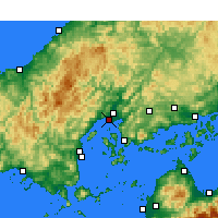 Nearby Forecast Locations - Hiroshima - Carte