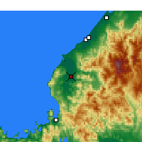 Nearby Forecast Locations - Fukui - Carte