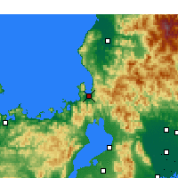 Nearby Forecast Locations - Tsuruga - Carte